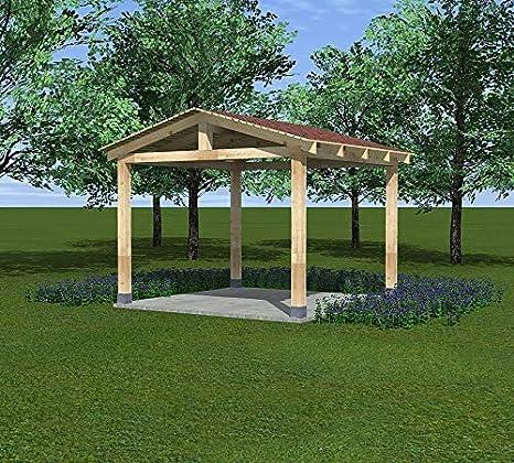 VSB - Cenador de madera para jardín, 3 x 3 m, BSH Altan: Amazon.es: Jardín
