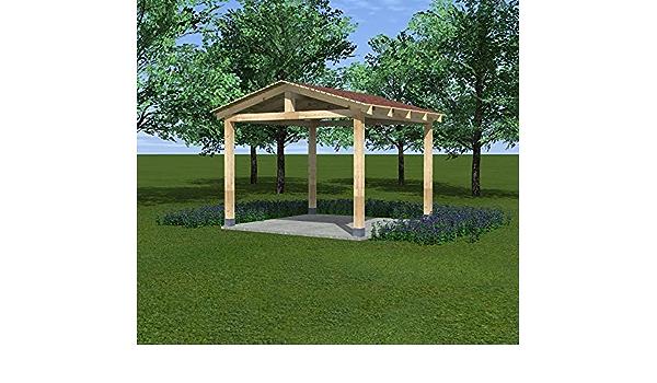 VSB Cenador de madera para jardín, pérgola, 3 x 3 m, BSH ...