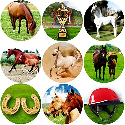 Fancy Land Horse Stickers Perforated 200Pcs Per Roll for Kids Birthday Party