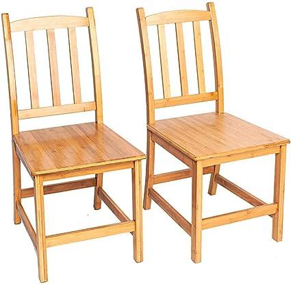 Newzeroin 2 Sedie Da Pranzo In Bambu Set Da Pranzo Per Interni In Bambu Sedie Da Cucina Per Sala Da Pranzo Moderna Amazon It Casa E Cucina