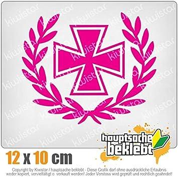 Kiwistar Eisernes Kreuz Lorbeerkranz 12 X 10 Cm In 15 Farben Neon Chrom Sticker Aufkleber