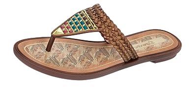 Grendha Silvestre Thong Frauen Flip-Flops / Sandalen-Bronze-37 IMVl1TrfI