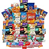 Snacks Cookies Candies Crackers & More Care Package Assortment Includes Goldfish, Skittles, Cheez It, Chex Mix. Planters, Quaker, Snyders & More Bulk Sampler (50 Count)