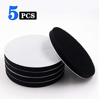 """5 Inch Soft Density Interface Pads Hook and Loop 5"""" Sponge Cushion Buffer Backing Pad (Set of 5): Industrial & Scientific"""