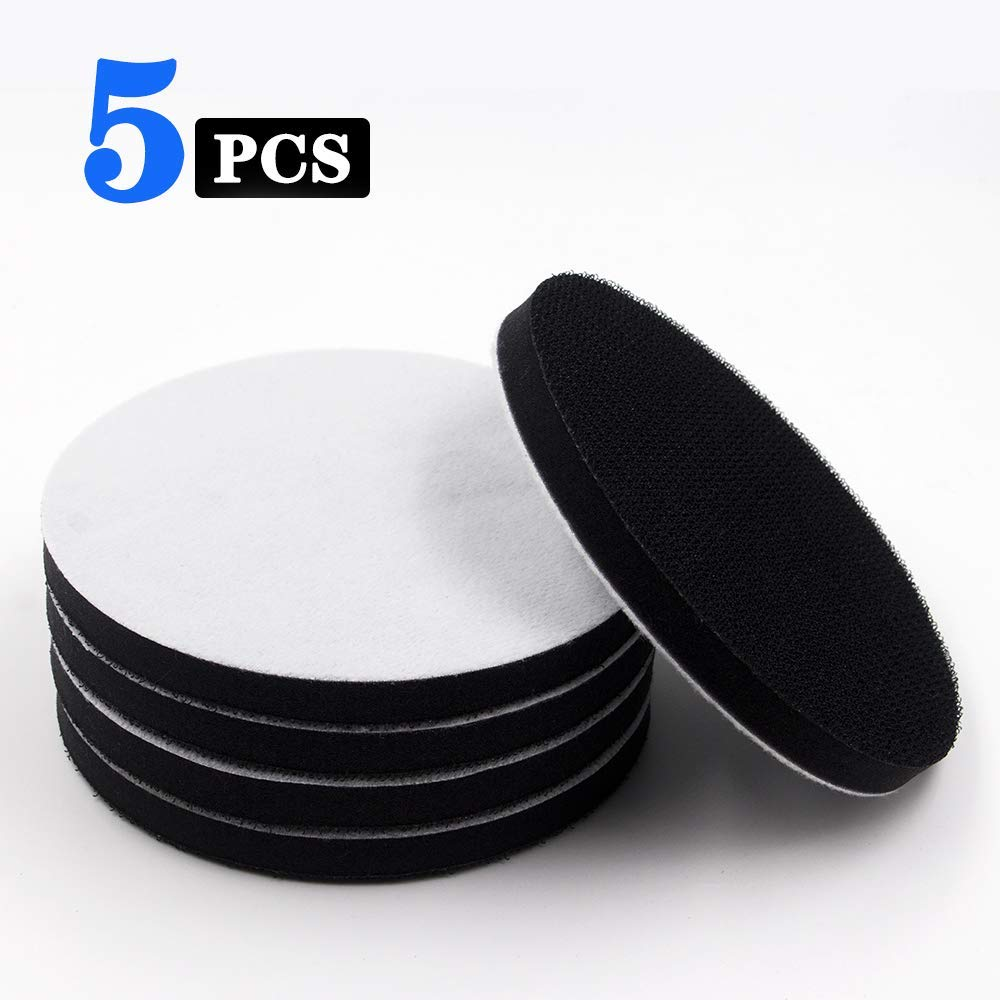 "5 Inch Soft Density Interface Pads Hook and Loop 5"" Sponge Cushion Buffer Backing Pad (Set of 5) 61HIjlIZoXL"