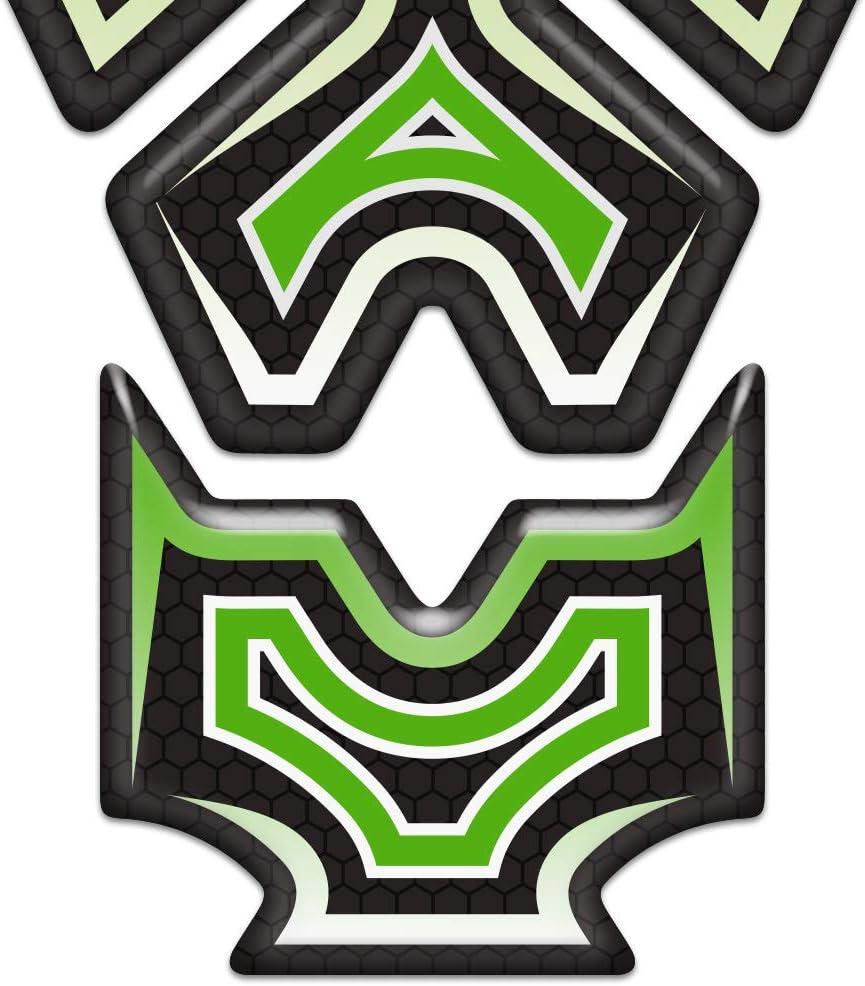 Qwjdsb F/ür Kawasaki Z H2 Z125 Z250 Z300 Z400 Z650 Z750 Z800 Z900 Z1000 Motorradaufkleber Form 3D Tank Pad Emblem