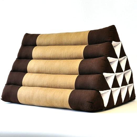 Cojín triangular marrón 55 x 40 x 35 cm tempelwelt promafit ...