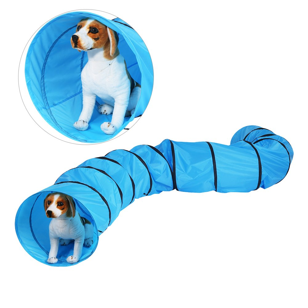 Cat Tunnel, Portable Folding Waterproof Pet Dog Rabbit Kittens Puppies Playing Tube Training Exercise Fun Tunnel Toy with Carry Bag-Diameter 16/23inch- Length 13FT/18FT (Diameter-23inch, Length 18FT)