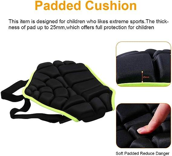 RENNICOCO Shorts de Protection rembourr/és Hip Butt Pad R/ésistance aux Chocs Respirant Sportswear pour Le Ski Snowboard Patinage