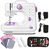 Dechow Sewing Machine for Beginners, Electric Portable, 12 Built-in Stitches with Reverse Sewing, 2 Speeds Double Thread with
