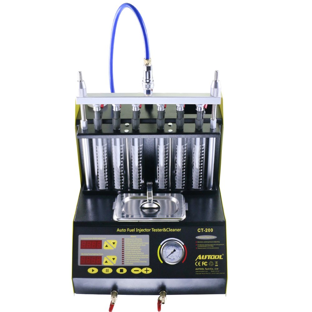 AUTOOL CT-200 Automotive 6 Cylinder Ultrasonic Wave Fuel Injector Cleaner and Tester Automotive Fuel Cleaning Tools 110V/220V by AUTOOL (Image #2)
