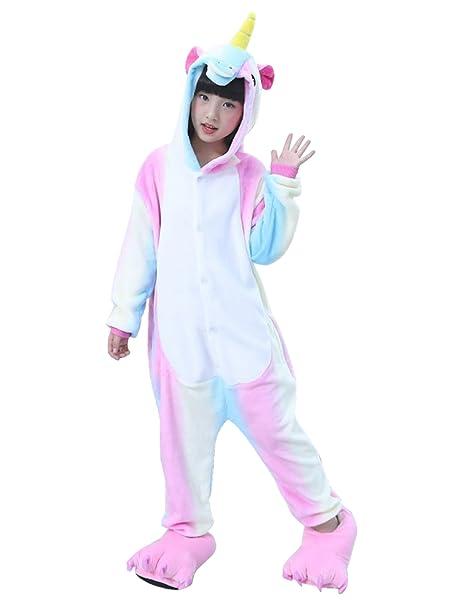 Semia Niño Unicornio Pijamas Niña Unisex Monos Ropa de Dormir Disfraz de Animal Cosplay Traje Disfraz