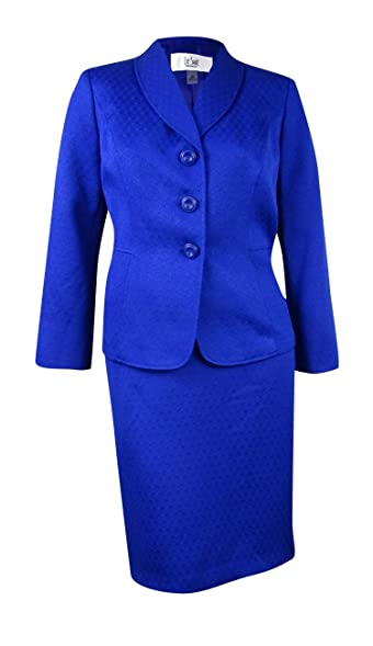 Amazon Com Le Suit Women S Plus Size Shawl Collar Jacquard Jacket
