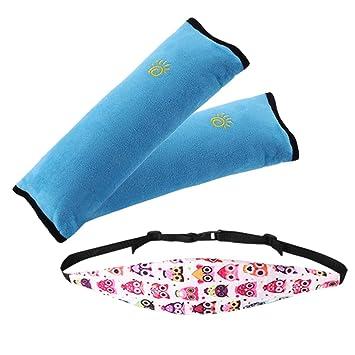 Kids Seatbelt Pillow Head Support Band Car Seat Slumber Sling For KidsSafety Belt Protector