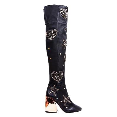 amazon com ivy kirzhner carnival black stretch nappa leather