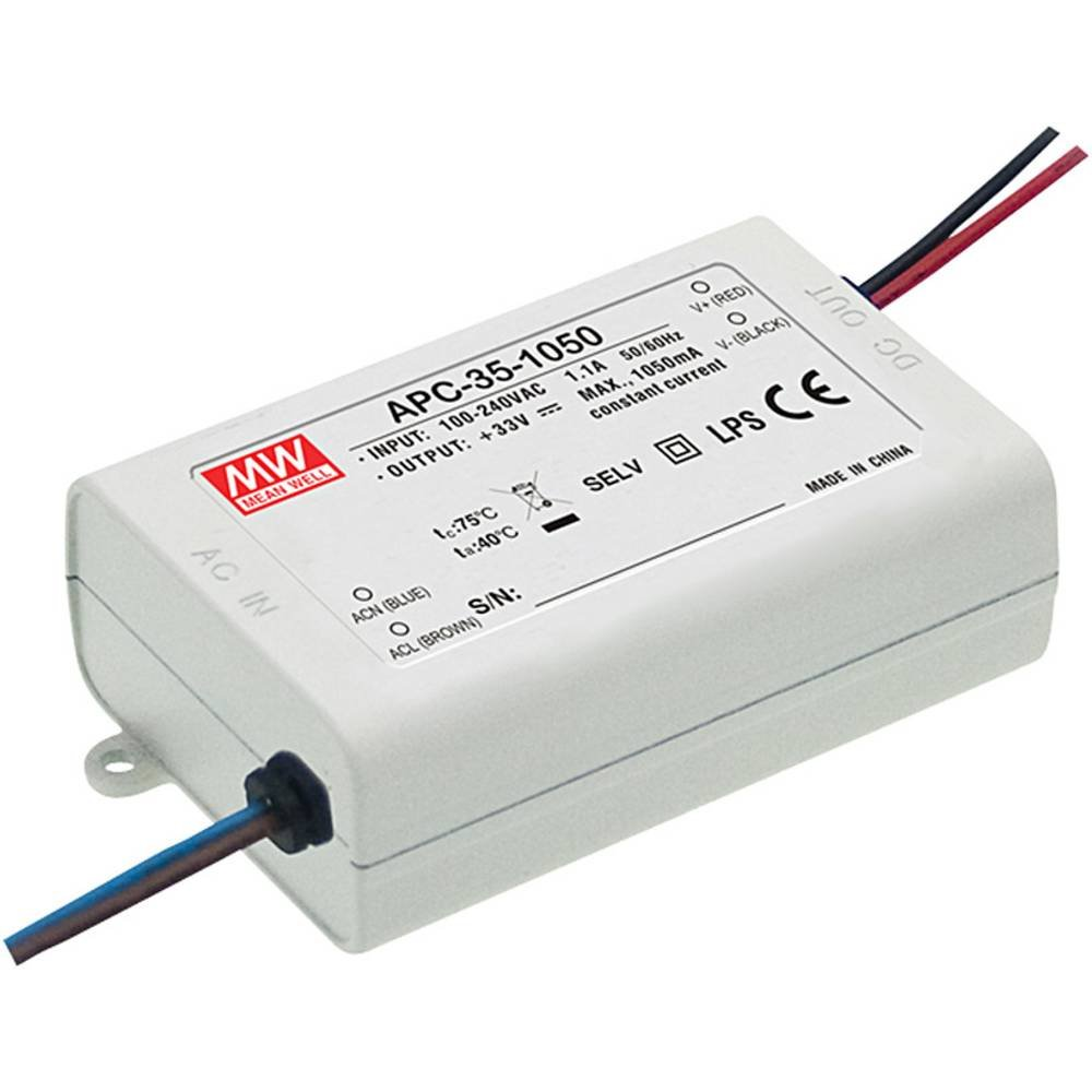 max Mean Well LED-Treiber Konstantstrom APC-35-500 35 W 500 mA 25-70 V//DC no dimmbar