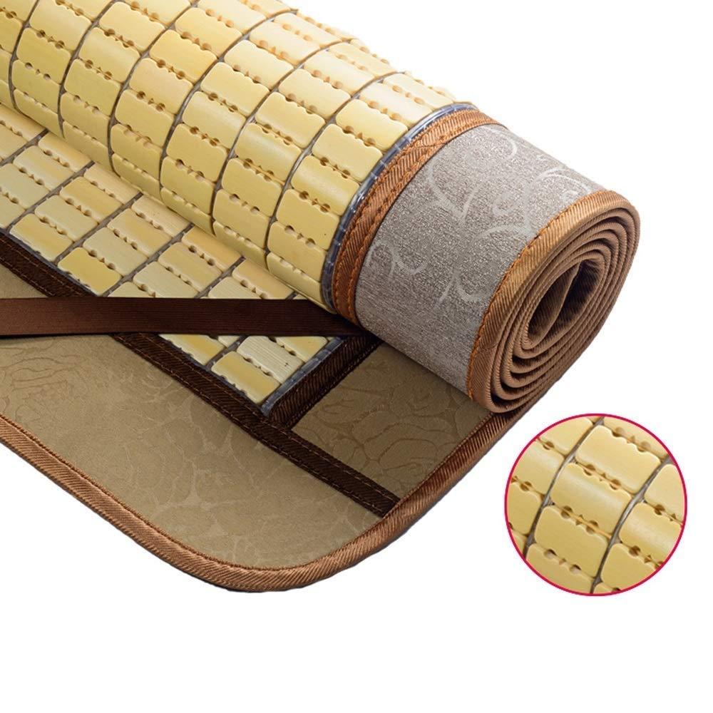 WYNZYYX Bambusmatratze Carbonisierte Matte Faltbare Doppel-Einzel-Bambusmatte Reine Natürliche Umweltschutz-Bambusmatte Bambusmatratze Matte Atmungsaktive Matratze (Color : B, Size : 2x2.2m)