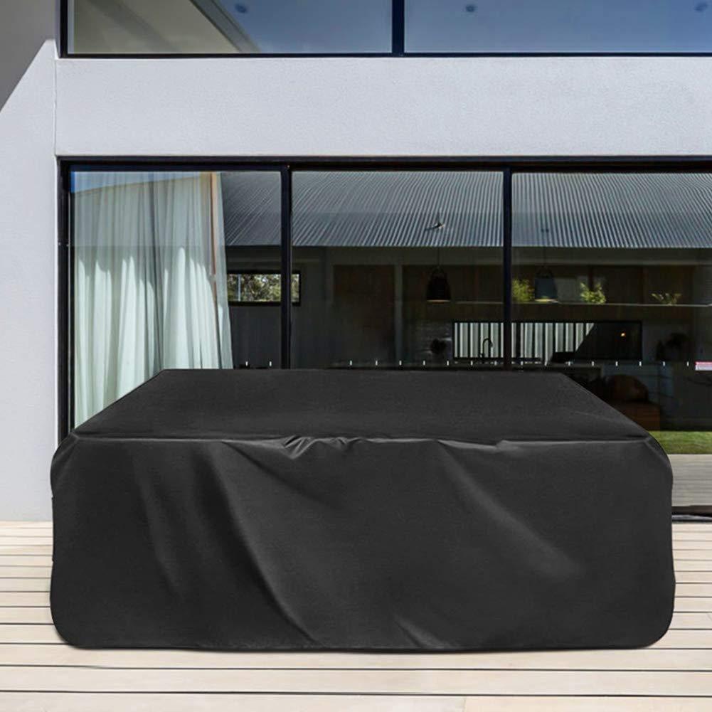 32 Dimensioni Divano Esterno Antipolvere Set Coprisedili per Tavolo da Giardino Oxford Impermeabile Rettangolare SHIJINHAO-Copertura Mobili Giardino Color : Black, Size : 60x60x60cm