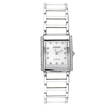 edcaa4fd696 Rado Integral Super Jubile Pearl Ceramic Mini Ladies Watch R20430902   Amazon.co.uk  Watches