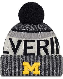85dcbe8610fce Amazon.com   University of Michigan Bradshaw Striped Pom Beanie ...