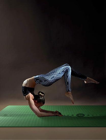 Amazon.com : YXGYJD Pilates Mat Yoga Mat Rubber Yoga Mat, Non-Slip Stripes, Non-Slip, Wear-Resistant, Specifications: 183X66CM Thickness: 8mm, Yoga, ...