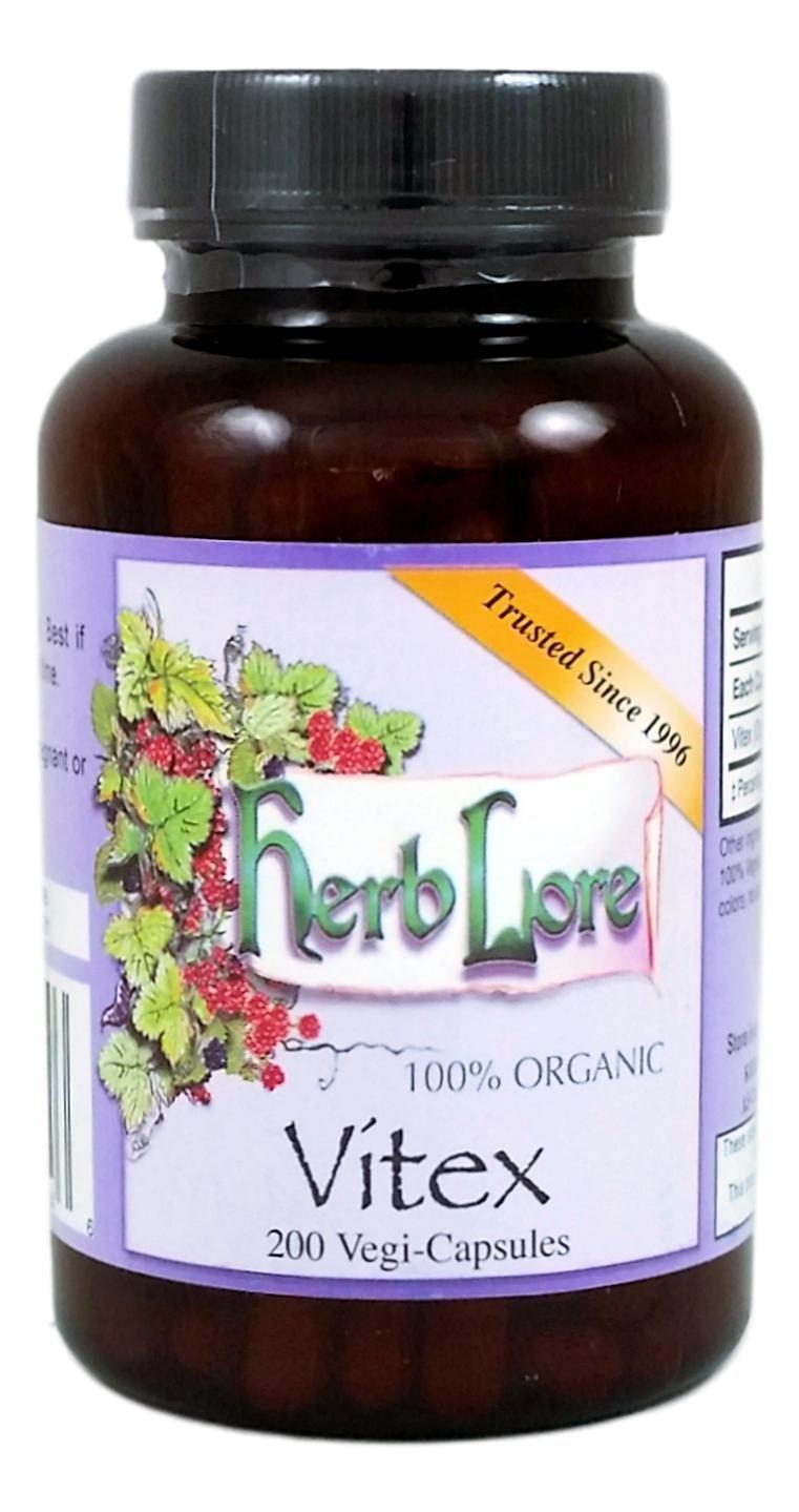 Organic Vitex Chasteberry -265 mg Vitex - 400 Capsules - Vegan - Supports  Hormone Balance for