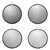 Hensel Honeycomb Grid Set (10, 20, 30, and 40 Degrees) for 9'' Reflectors 5065