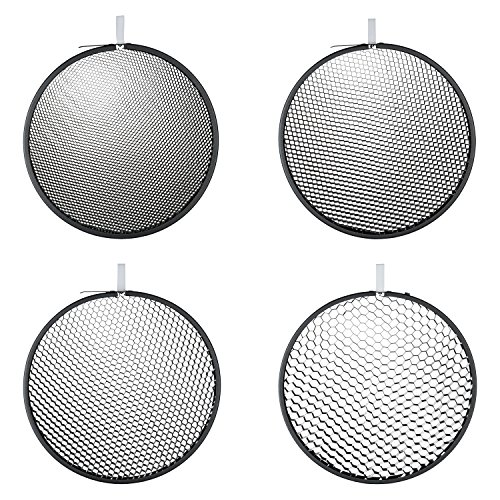 9' Honey (Hensel Honeycomb Grid Set (10, 20, 30, and 40 Degrees) for 9'' Reflectors 5065)