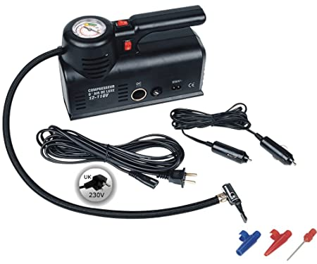 Kensun YS-205 (Home 110V)/ DC (12V Car) Portable Air Compressor Tire Inflator