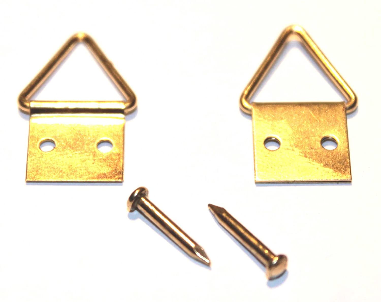 dimensioni 20/x 10 mm Attaccaglie snodate per quadri chiodi e ganci inclusi 50 pezzi