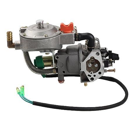 Amazon com: Savior Dual Fuel Carburetor Carb for Honda GX270 LPG NG