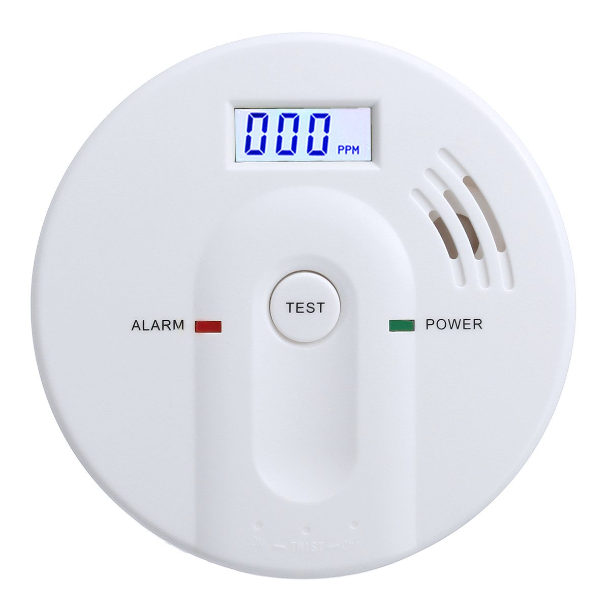Dalanpa CO Detector Carbon Monoxide Alarm with LCD Digital Display Battery Operated