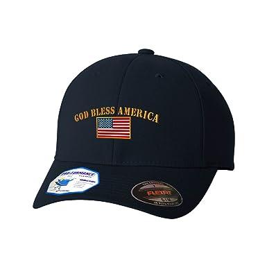 95f74f57d1e God Bless America Flexfit Adult Pro-Formance Hat Dark Navy Large X-Large