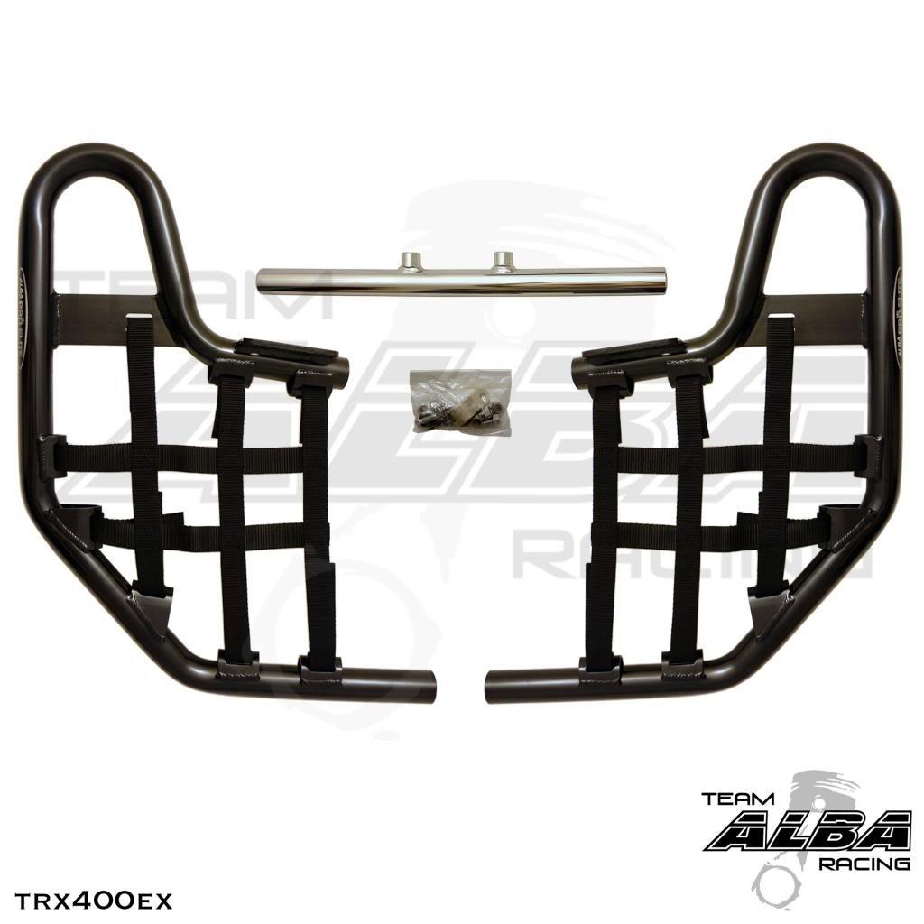 Honda TRX 400EX SPORTRAX (1999-2014) Standard Nerf Bars Black Bars w/ Black Net