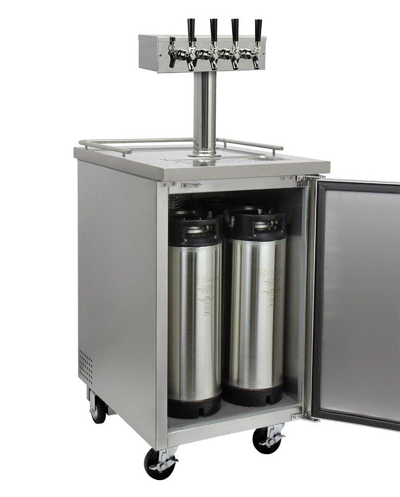 Amazon.com: Kegco Commercial Grade Homebrew Kegerator Four Faucet ...