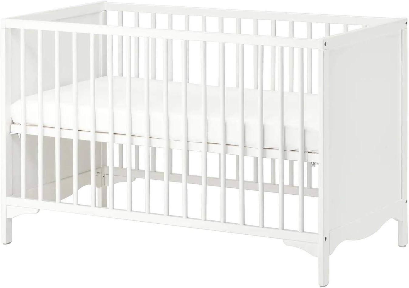 IKEA SOLGUL Lit bébé Blanc 60 x 120 cm: : Cuisine