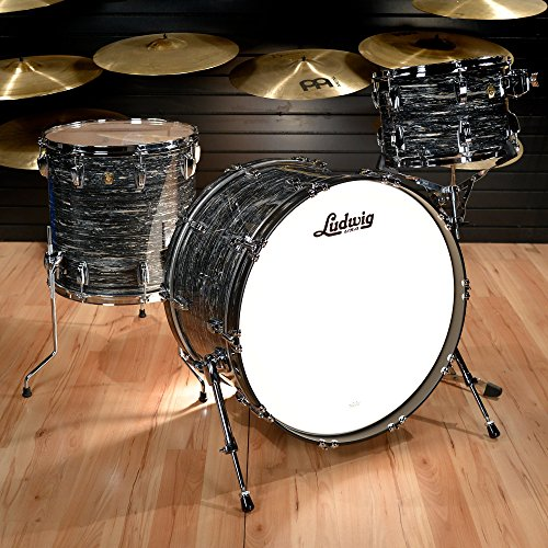 Ludwig 13/16/24 Classic Maple Pro Beat Kit Vintage Black Oyster (Ludwig Maple Classic Drum)