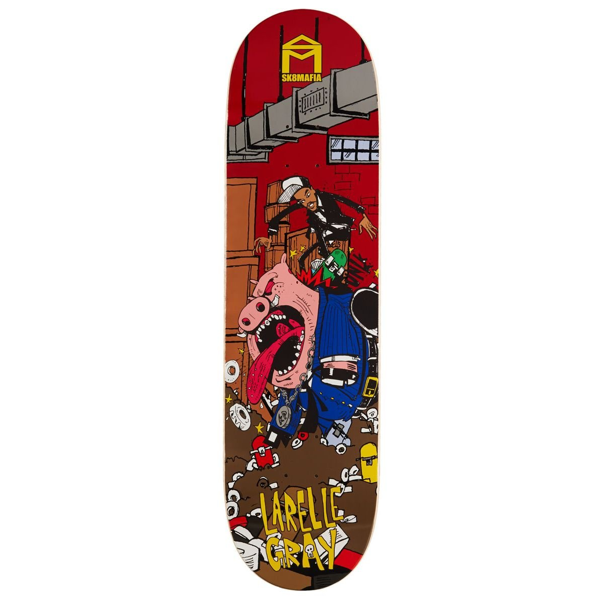 Sk8 Mafia Fun Gray Skateboard Deck - 8.30''