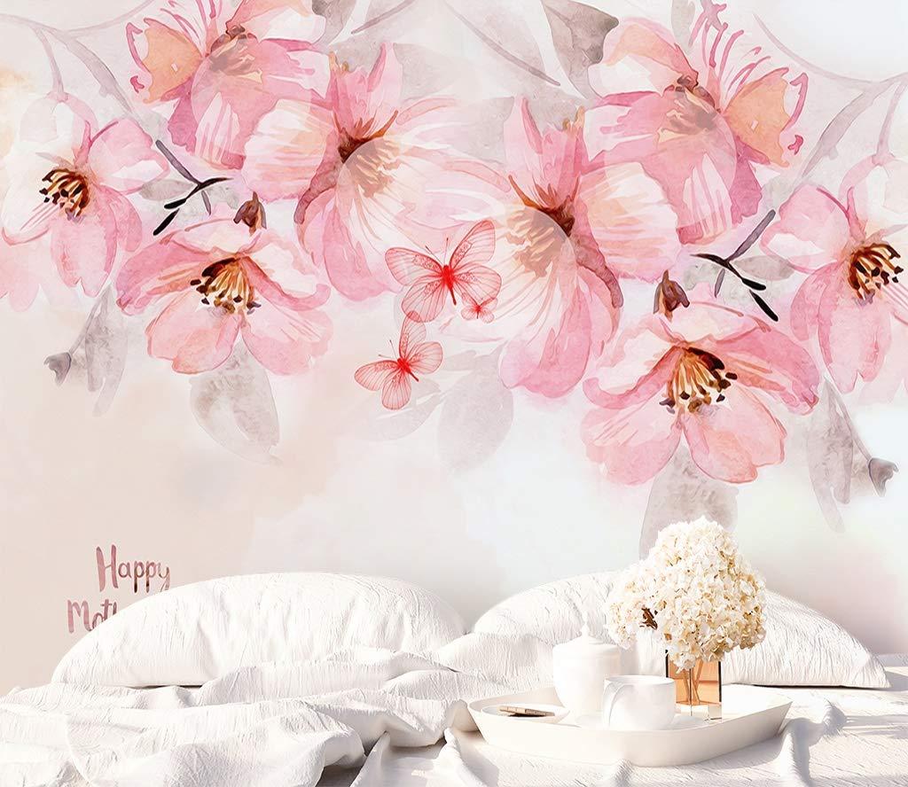 Amazon Com Murwall Boho Floral Wallpaper Cherry Blossom Wall