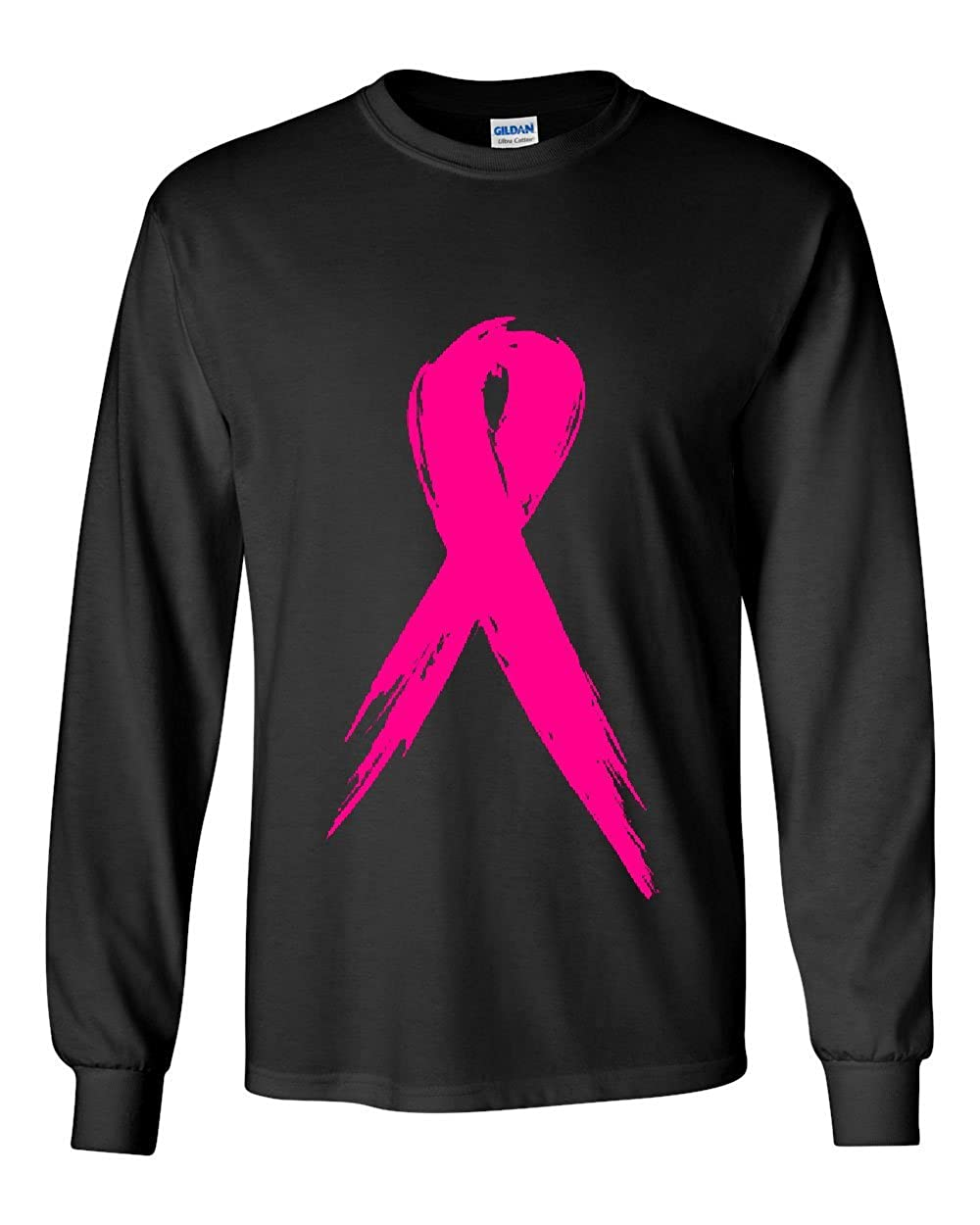 15459bc6 Top10: Pink Ribbon Breast Cancer Awareness Long Sleeve T-Shirt Hope Fight  Survivor Tee