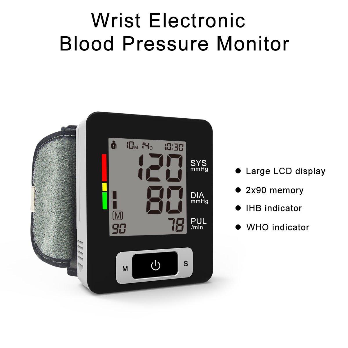 Signstek, monitor de presión arterial aprobado por la FDA, Clasificación de la OMS Automático, digital, brazo superior, presión arterial, manguito, ...