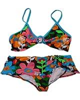OP Girls 2 PC Floral Bikini Swimming Swim Suit Skirtini Bathing Suit XL 14/16