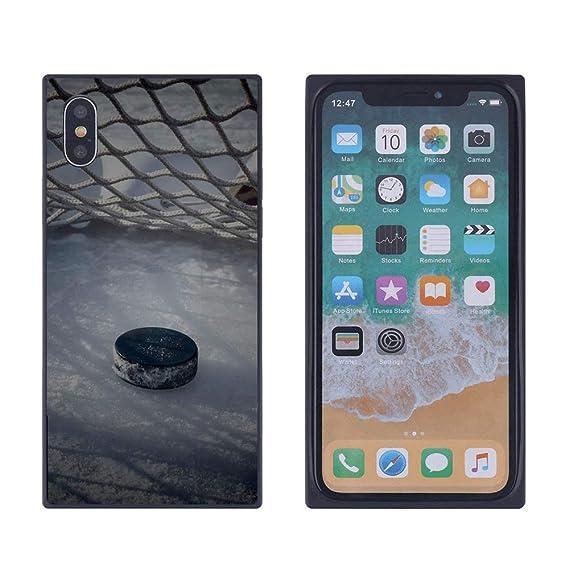 premium selection 94b90 3c169 Amazon.com: iPhone Xs Max Ice Hockey Puck Case, Soft Flexible TPU ...