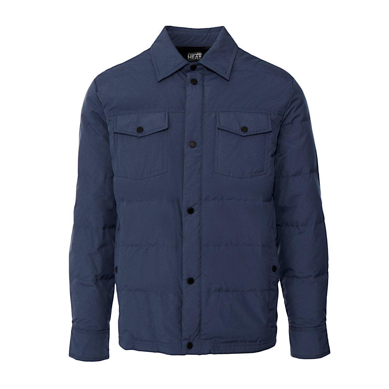 32 DEGREES Men's Packable Down Shirt Jacket -Dark Denim-M by 32 DEGREES