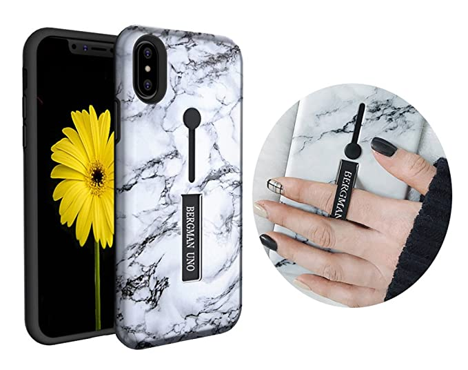 competitive price a7b1a a2686 Bergman Uno case Compatible with iPhone X/iPhone 10 / Finger Strap  Case/Finger Ring Band with Kickstand Case/Rugged Case/Finger Ring Loop  Strap ...