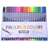 MyLifeUNIT FineLiner Pens, 0.4mm Micro Point Pens Sketch Drawing Pens, 24 Assorted Colors