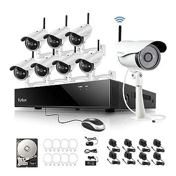 Amazon com : Funlux KS-S88UA-W-2TB 8 1MP 720P HD Wireless IP