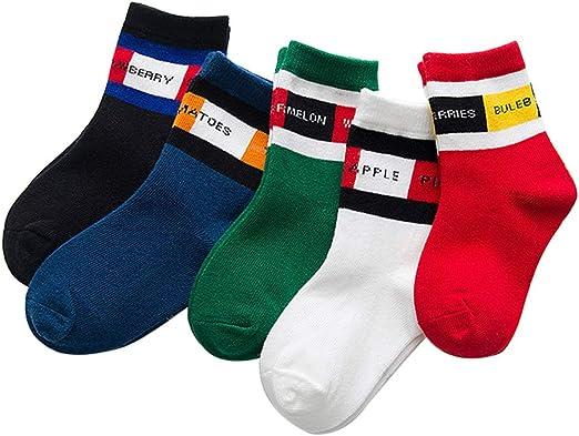 Doitsa - 5 Pares de Calcetines de algodón para niño o niña ...