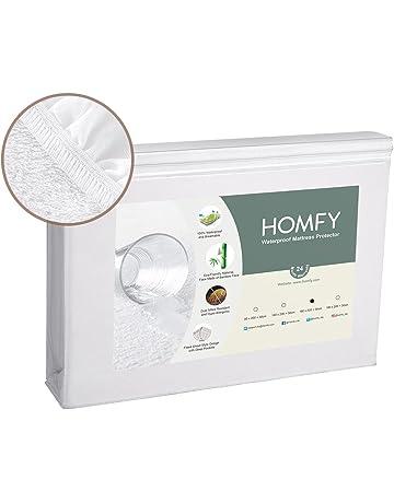 HOMFY Protector de Colchón Impermeable 160x200 (150x190), Fundas de Colchón Transpirables, Cubre