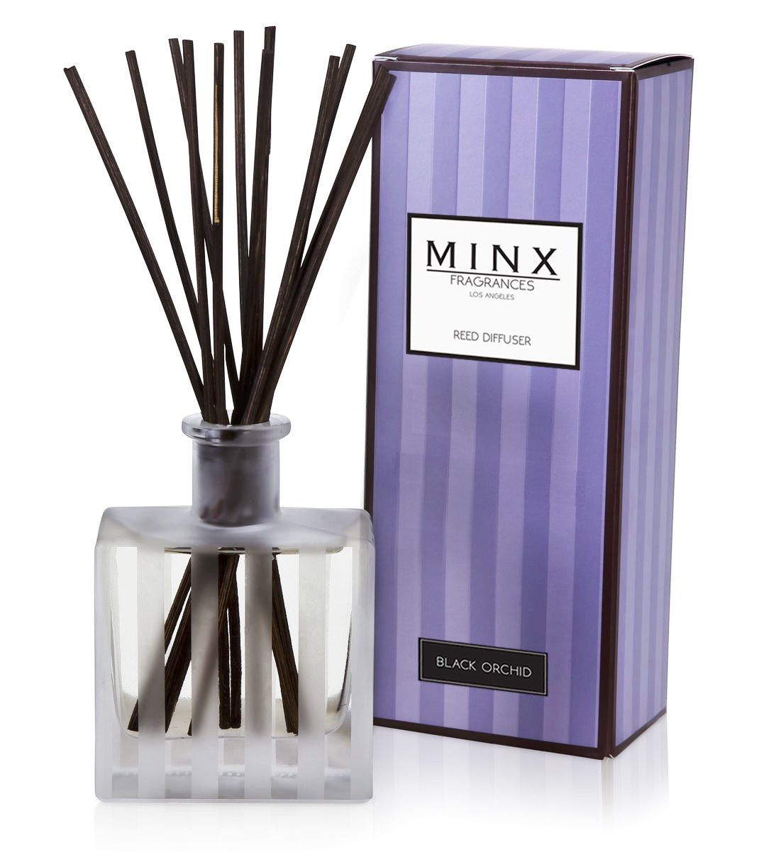 Aromatherapy Oil Reed Diffuser Gift Set MINX Fragrances (BLACK ORCHID)